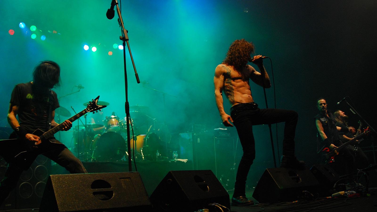Bild på rockbandet Overkill.