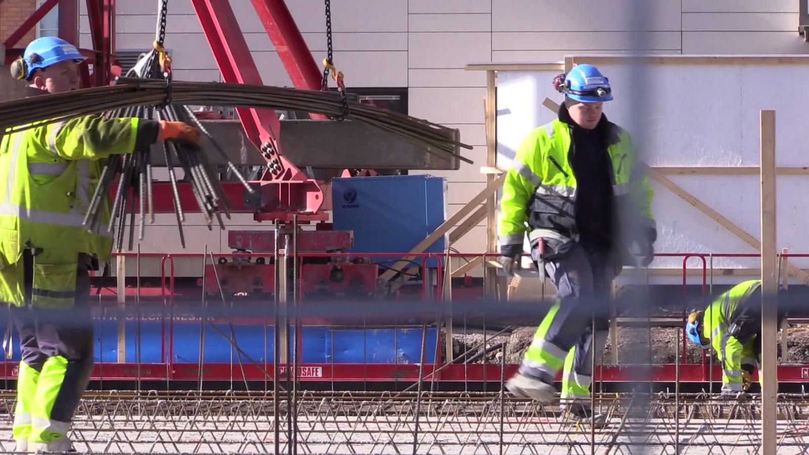 Byggarbetsplats, byggrekord i Gävle