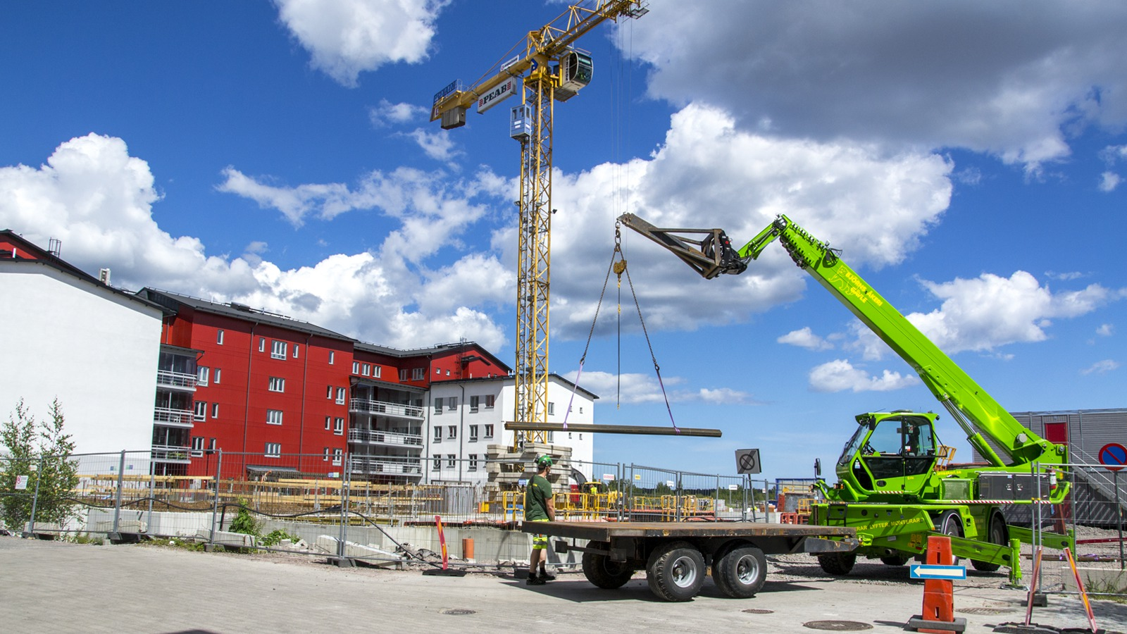 Byggnation på Gävle strand.