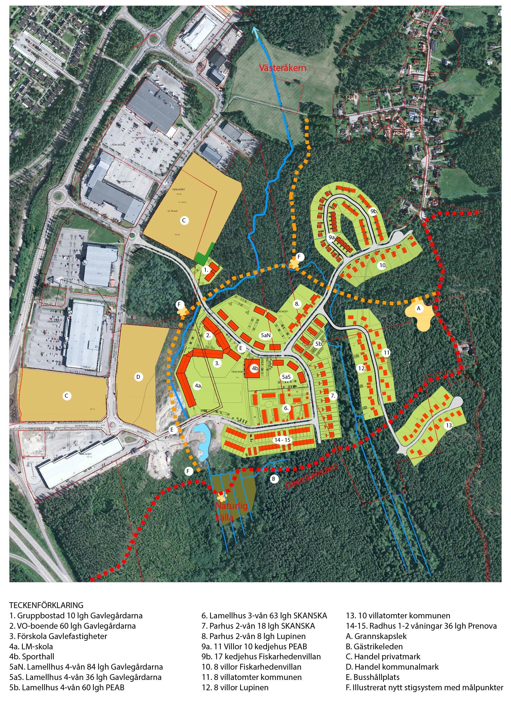 Bild över det nya området som planeras i Hemlingby.