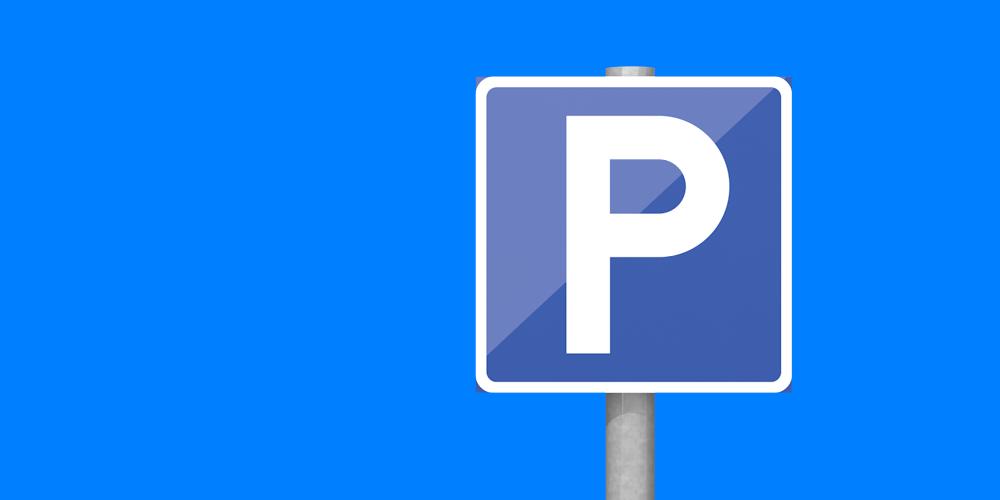 Illustrerad bild föreställande en parkeringsskylt