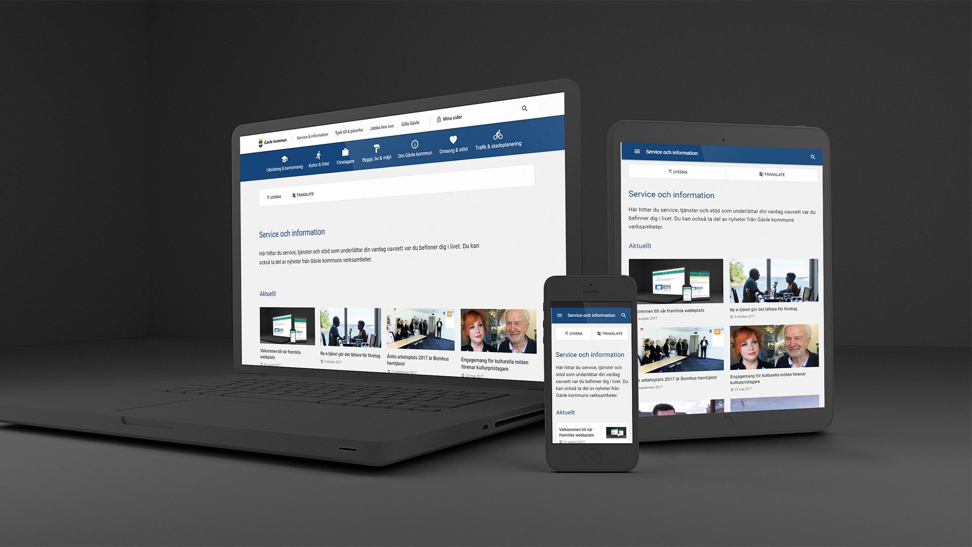 Gävle kommuns nya webbplats