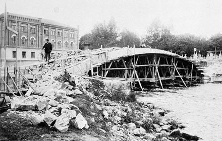 Drottningbron under byggnation
