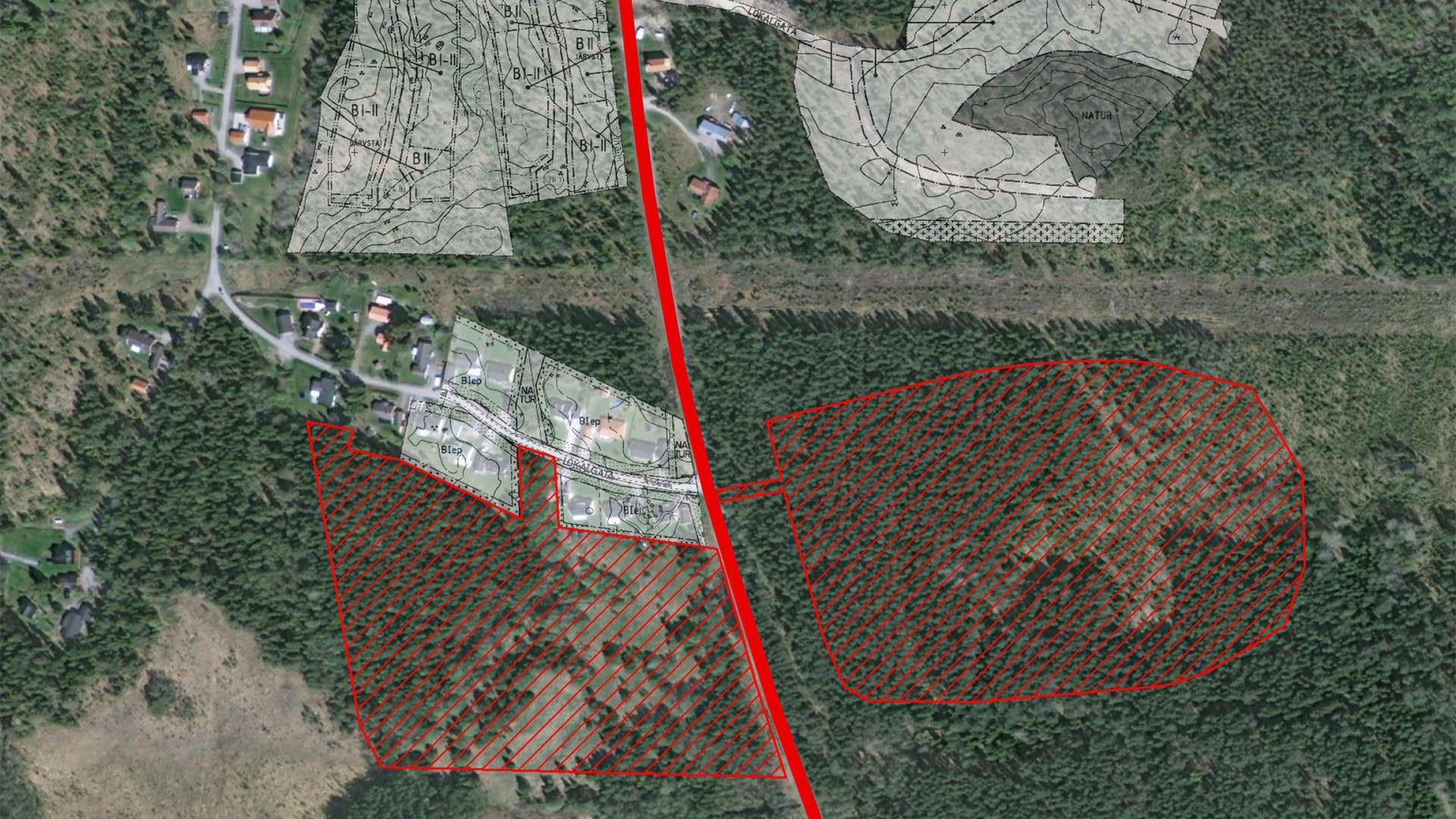Karta över byggprojktet i Järvsta