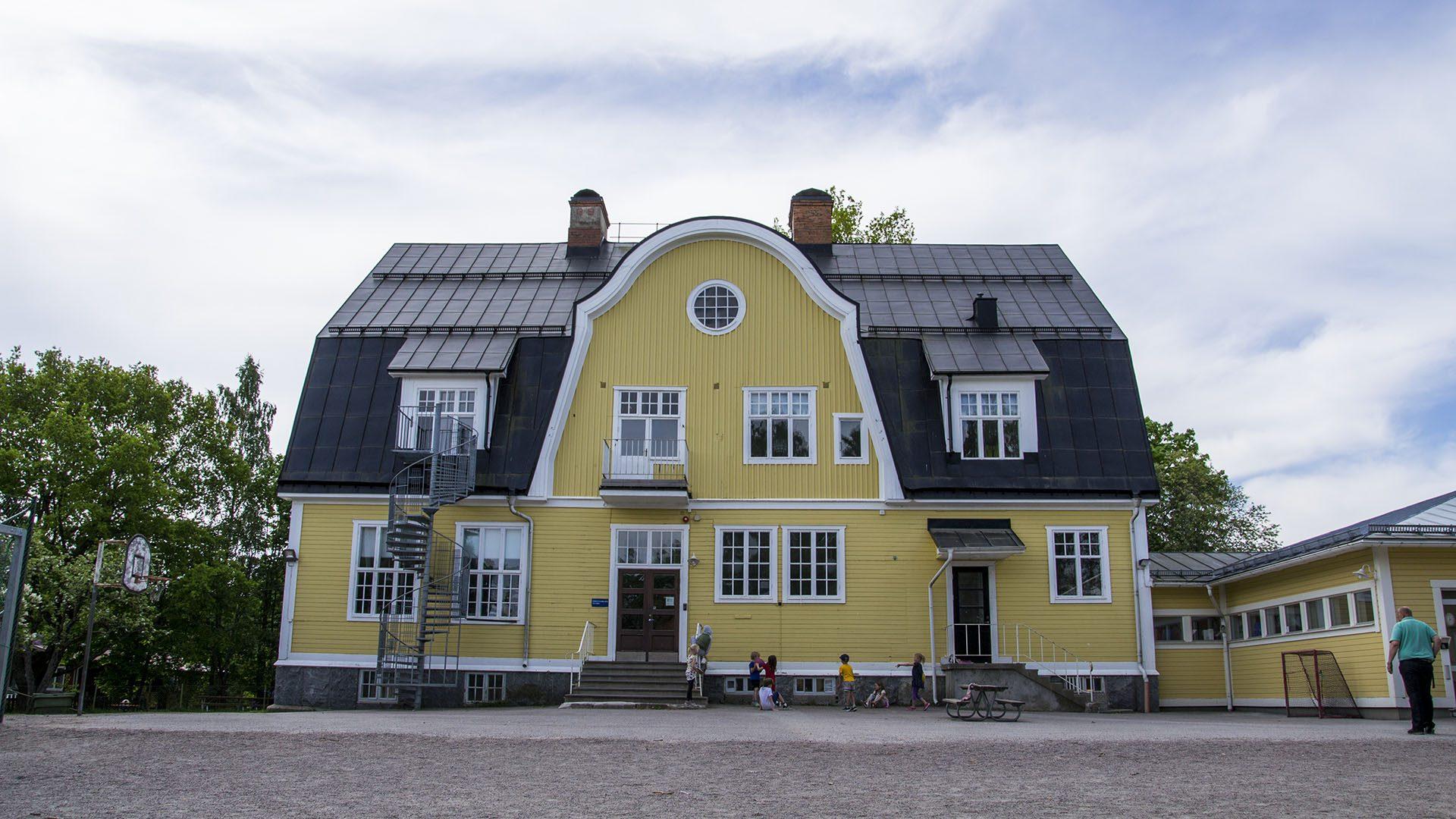 Exteriörbild på Åbyggeby skola