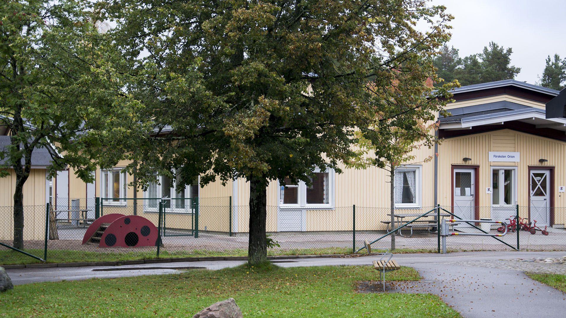 Exteriörbild på Förskolan Orion