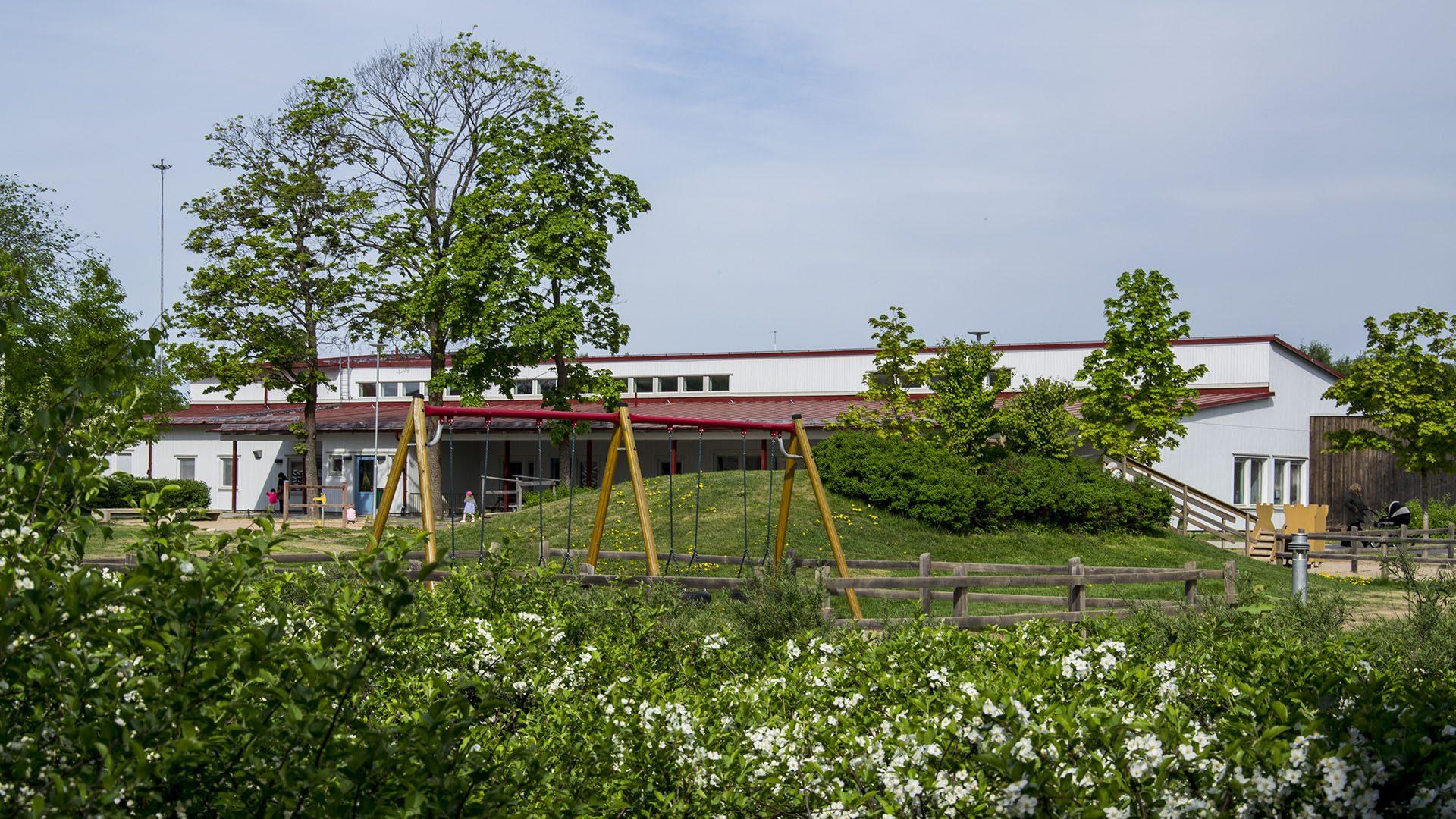 Exteriörbild på Herrgårdens förskola