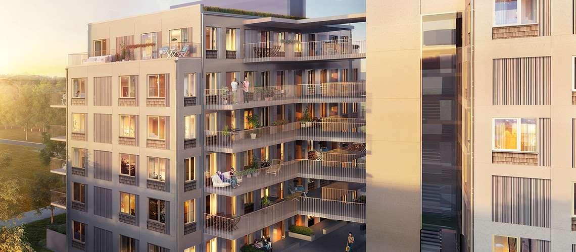 Illustration av byggprojektet på Timmermansgatan