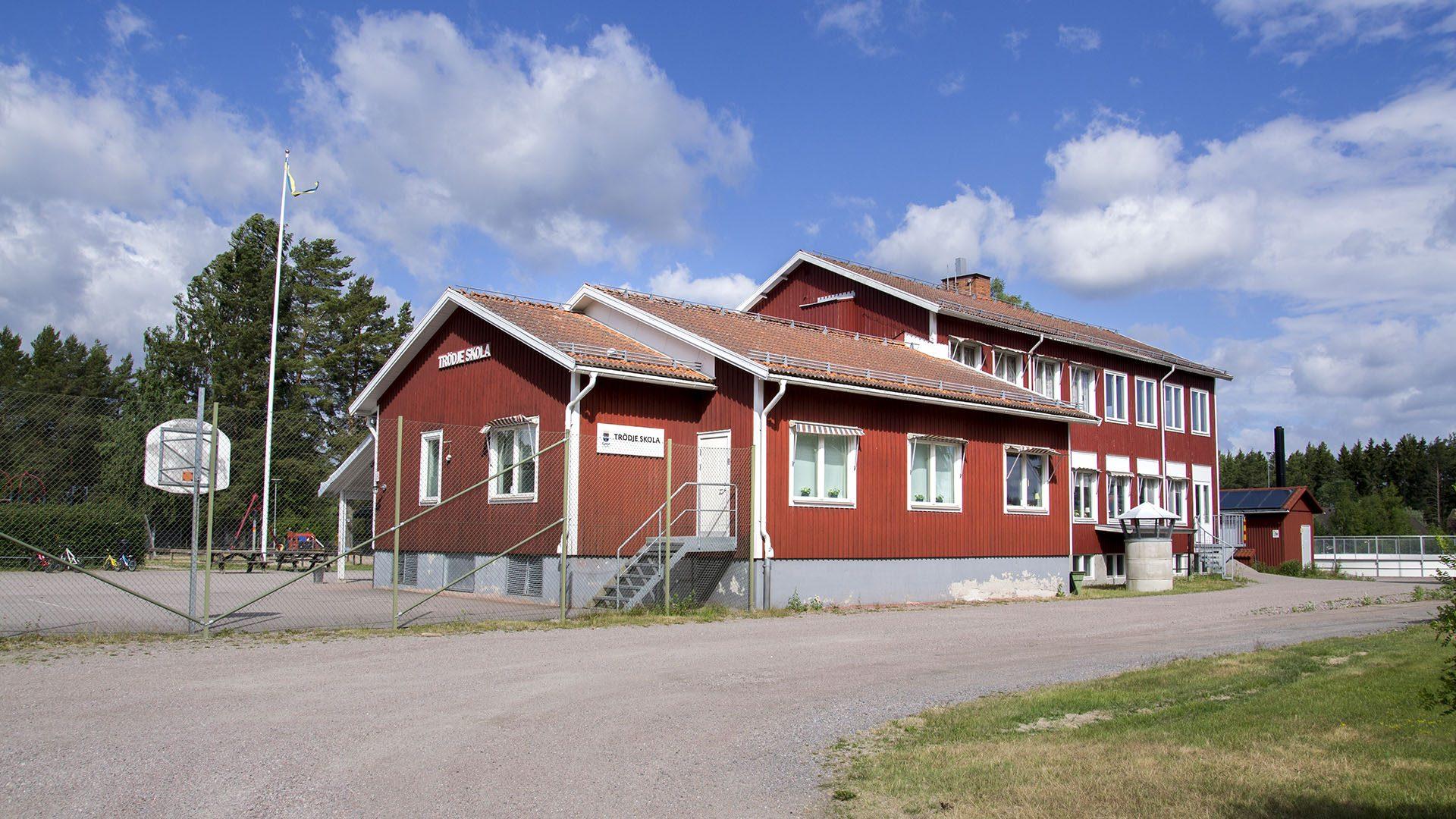 Exteriörbild på Trödje skola