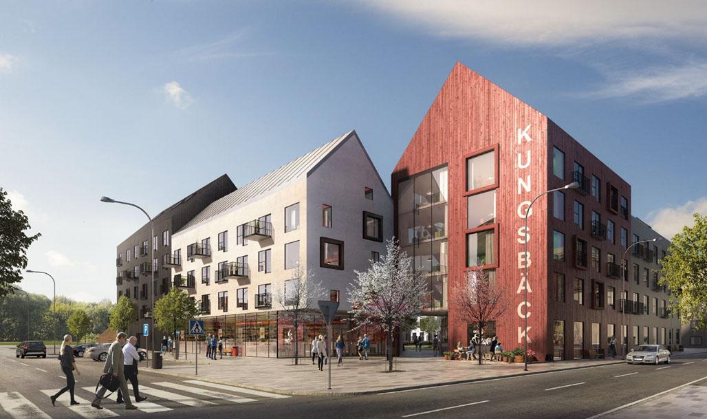 Konceptbild över byggprojektet i Kungsbäck