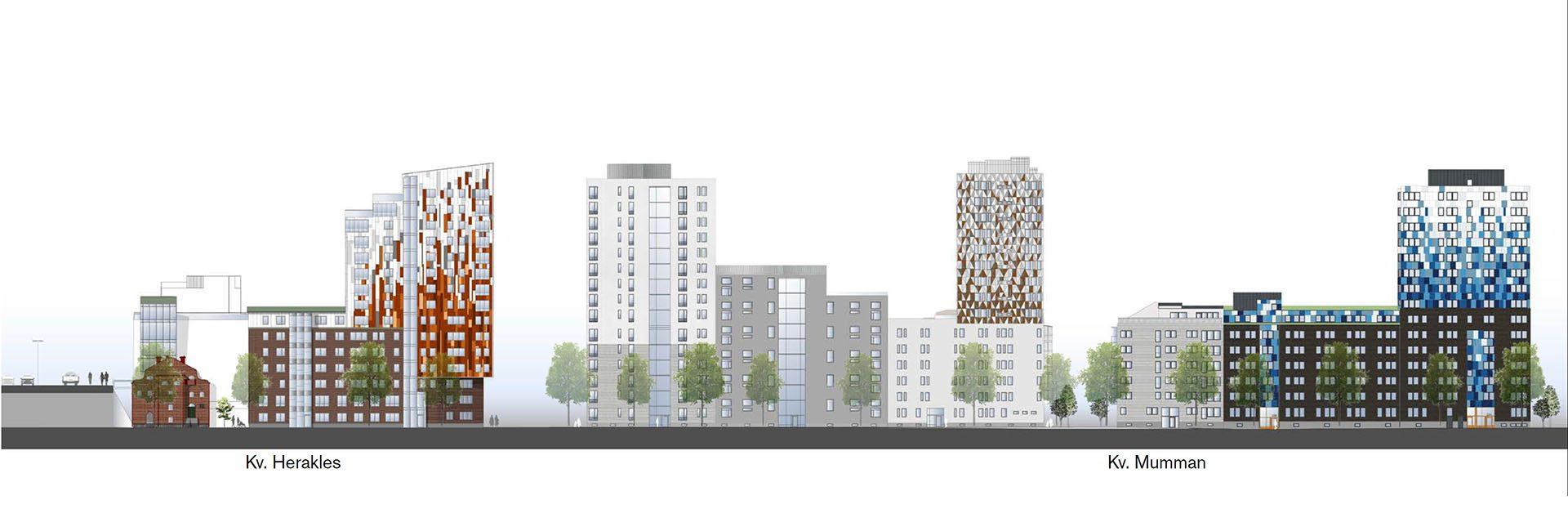 Översiktsbild av byggprojektet Muréngatan