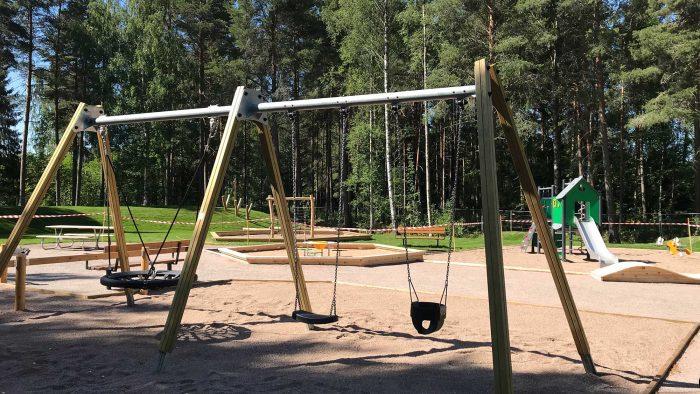 Lekplatsen i Pingeltorp i Sätra
