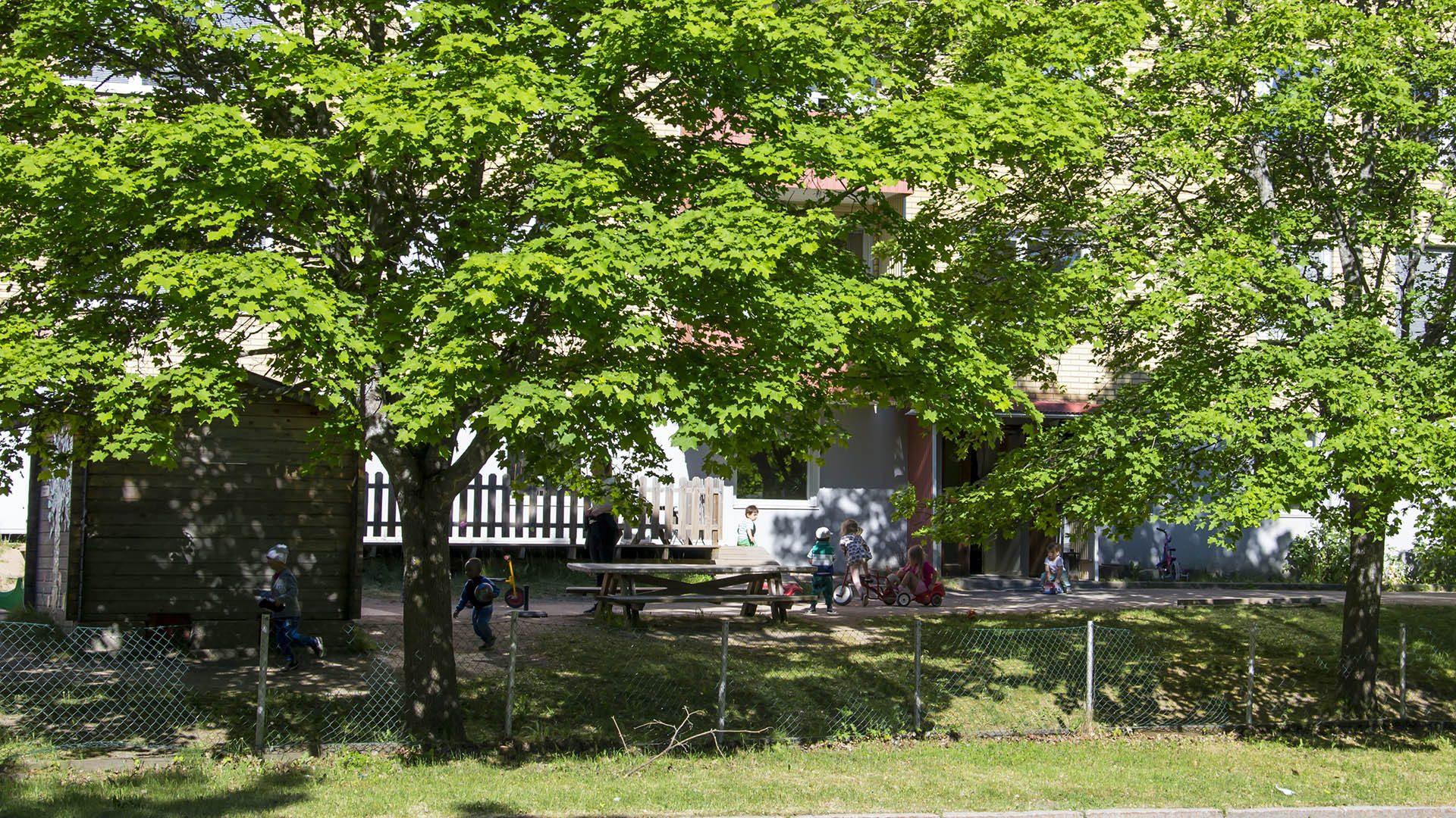 Exteriörbild på Staffanbackens förskola