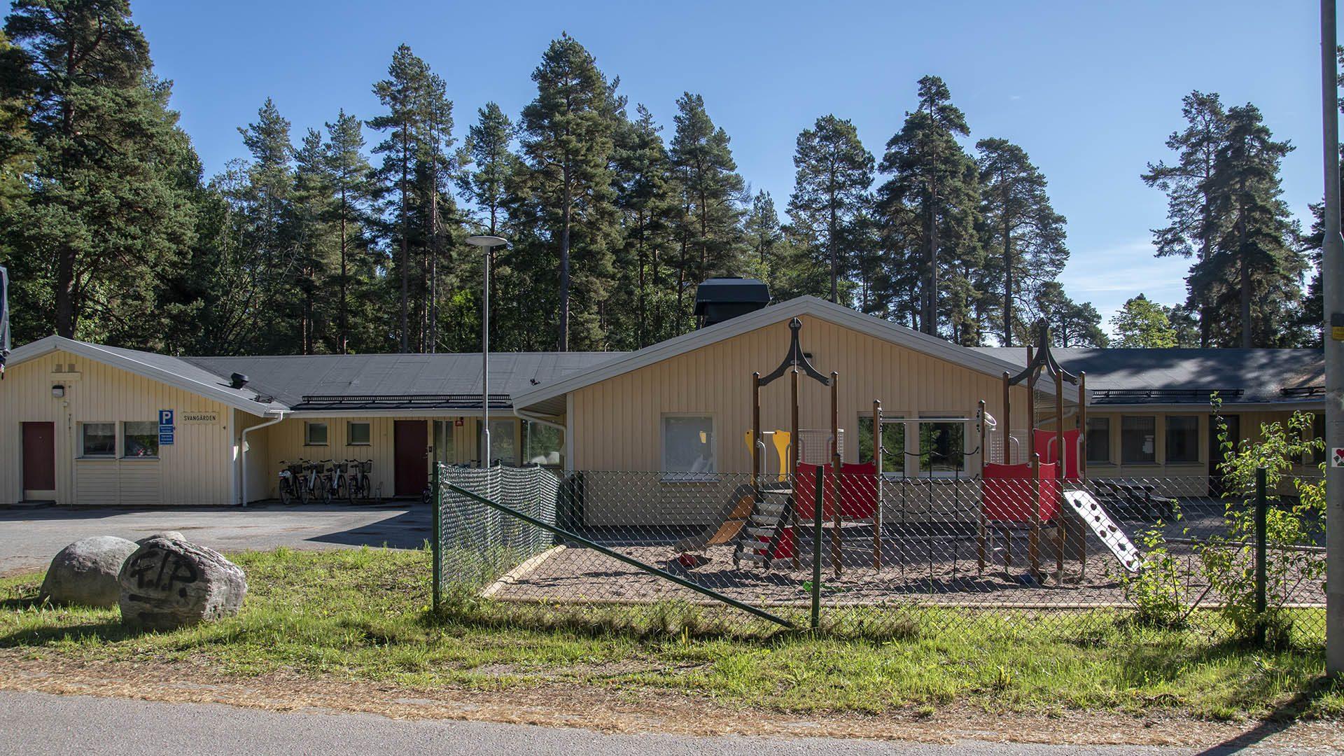 Exteriörbild på Svangårdens förskola