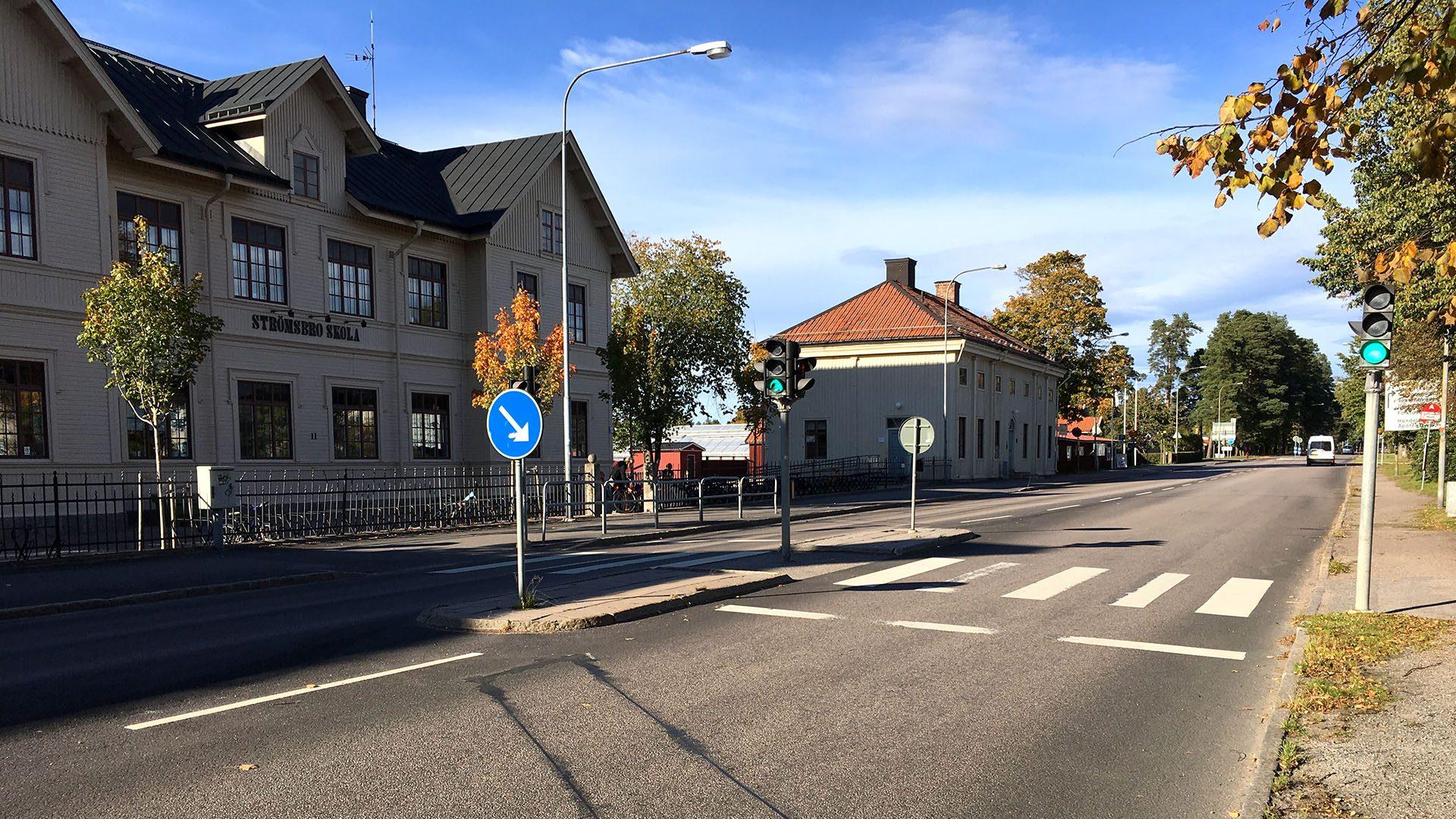 Övergångsstället vid Strömsbro skola