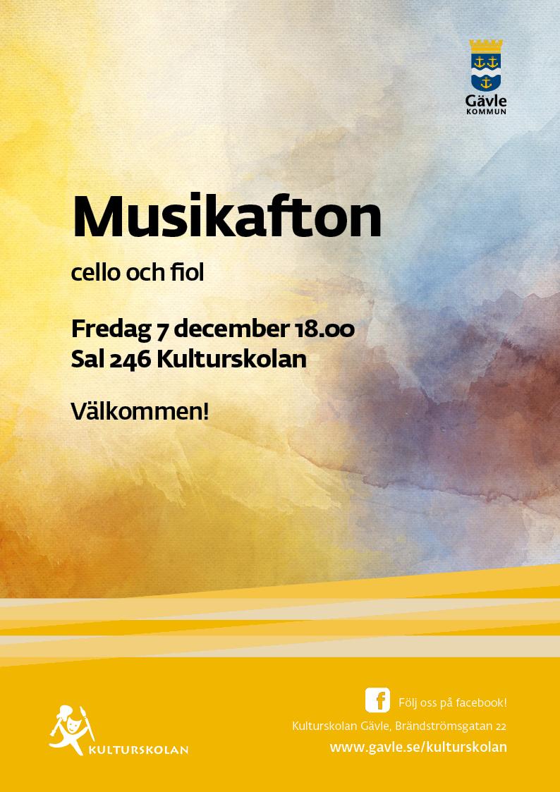 181207 kulturskolan_A4_Musikafton cello och fiol