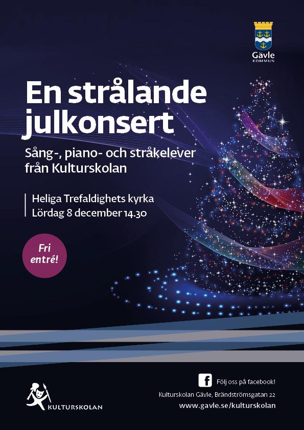 181208 kulturskolan_A4_En strålande Julkonsert
