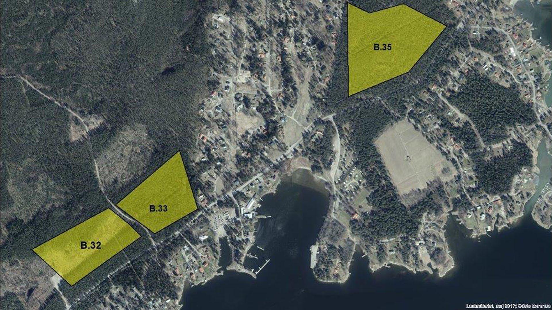 Karta över markanvisning på Norrlandet