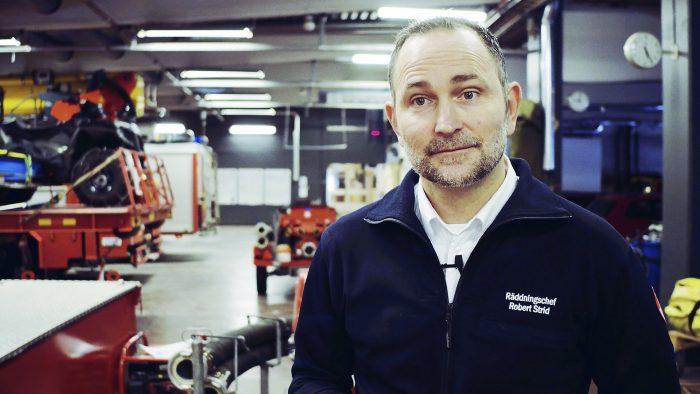 Räddningschef Robert Strid från Gävle