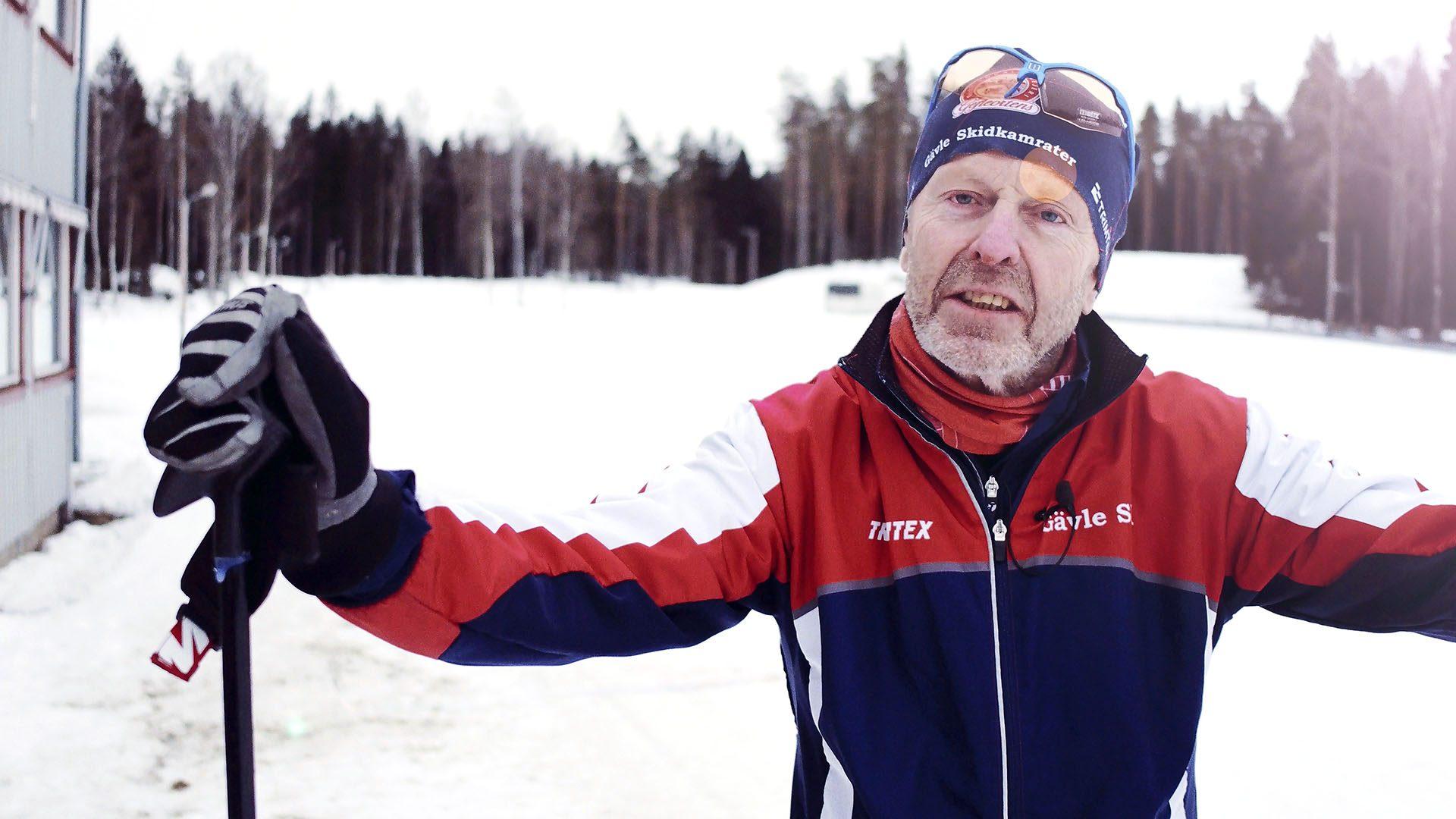 Gävleskidåkaren Ulf Uddbäck tränar inför Vasaloppet.