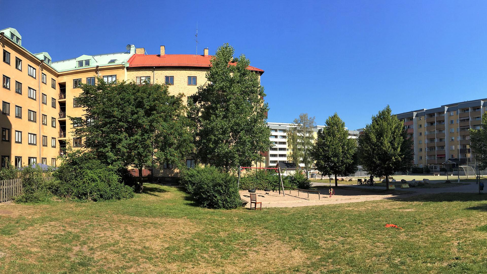 Park på Nordost innan upprustning