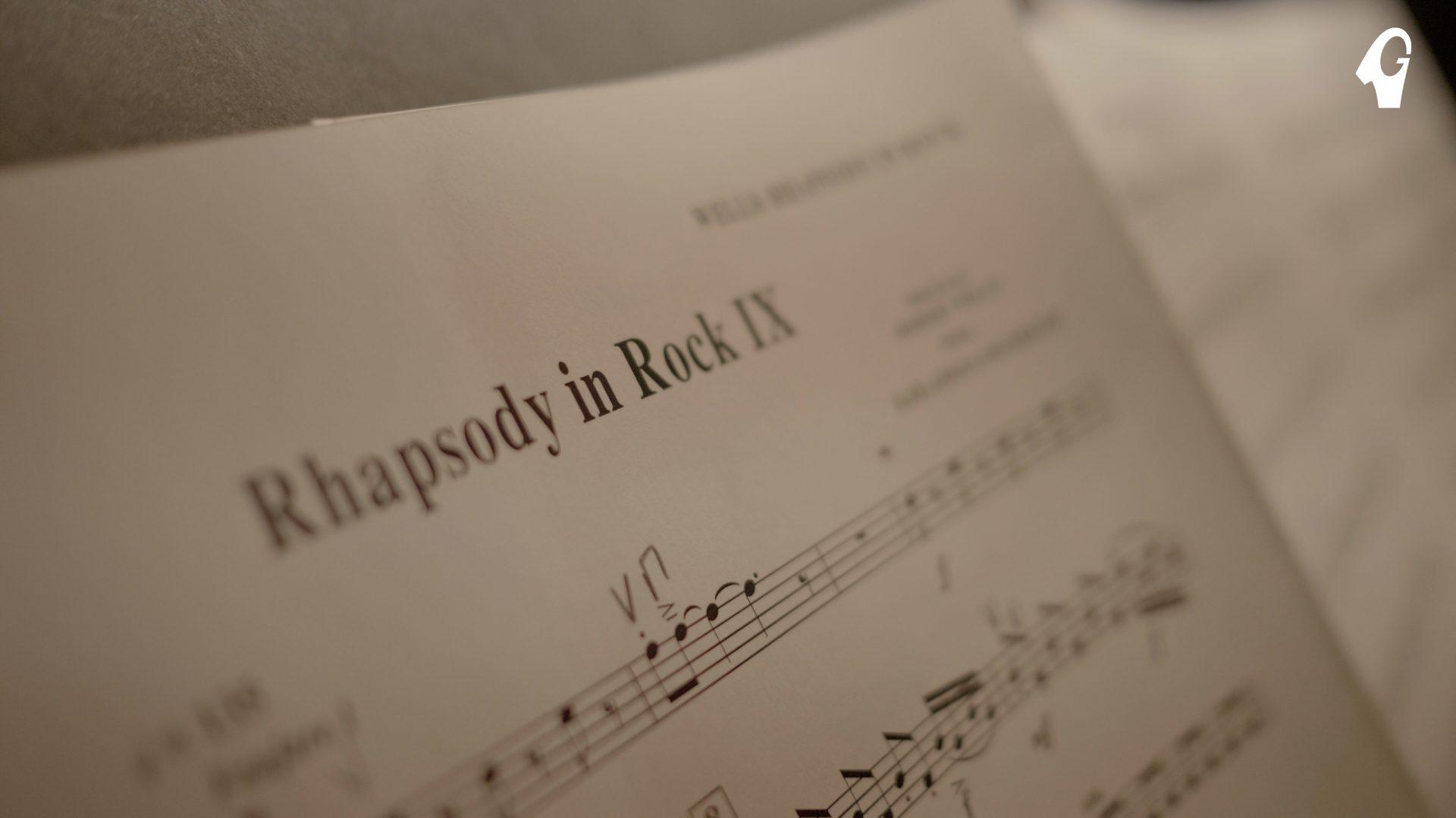 Notblad från Rhapsody in rock