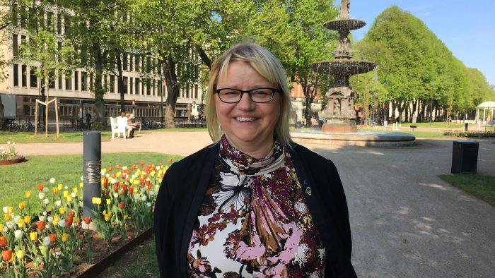 Helene Åkerlind i esplanaden.