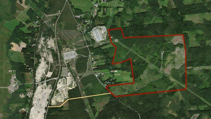 Kartbild över Stackbo