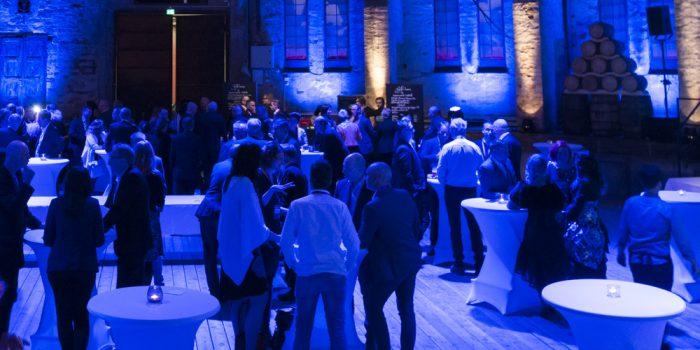 Företagare träffas under evenemang