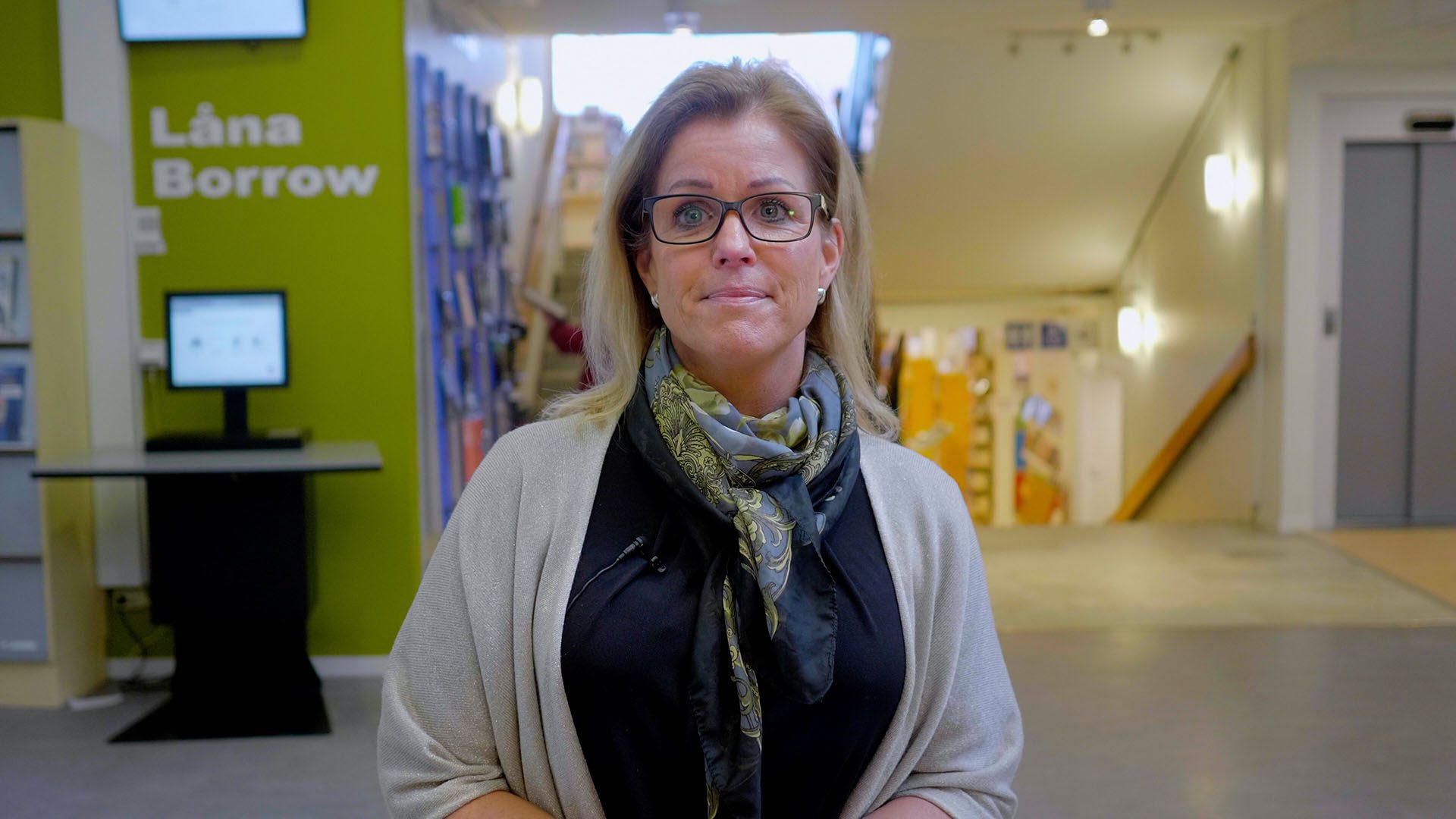Åsa Wiklund Lång på Stadsbiblioteket