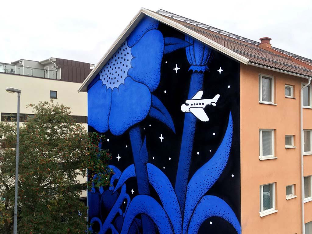 Muralmålning vid Brunnsgatan