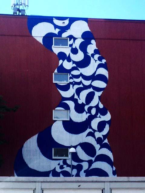 Muralmålning vid Vinddraget
