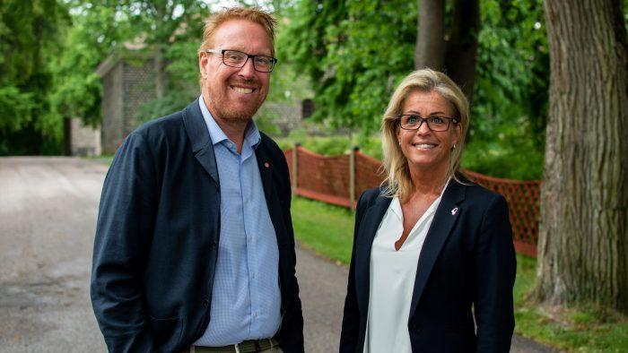 Peter Kärnström och Åsa Wiklund Lång