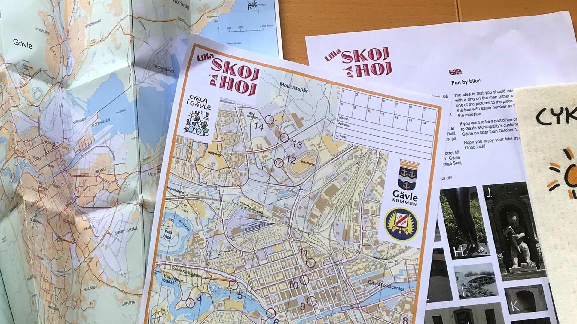 Kartor med kontrollerna i Lilla skoj på hoj