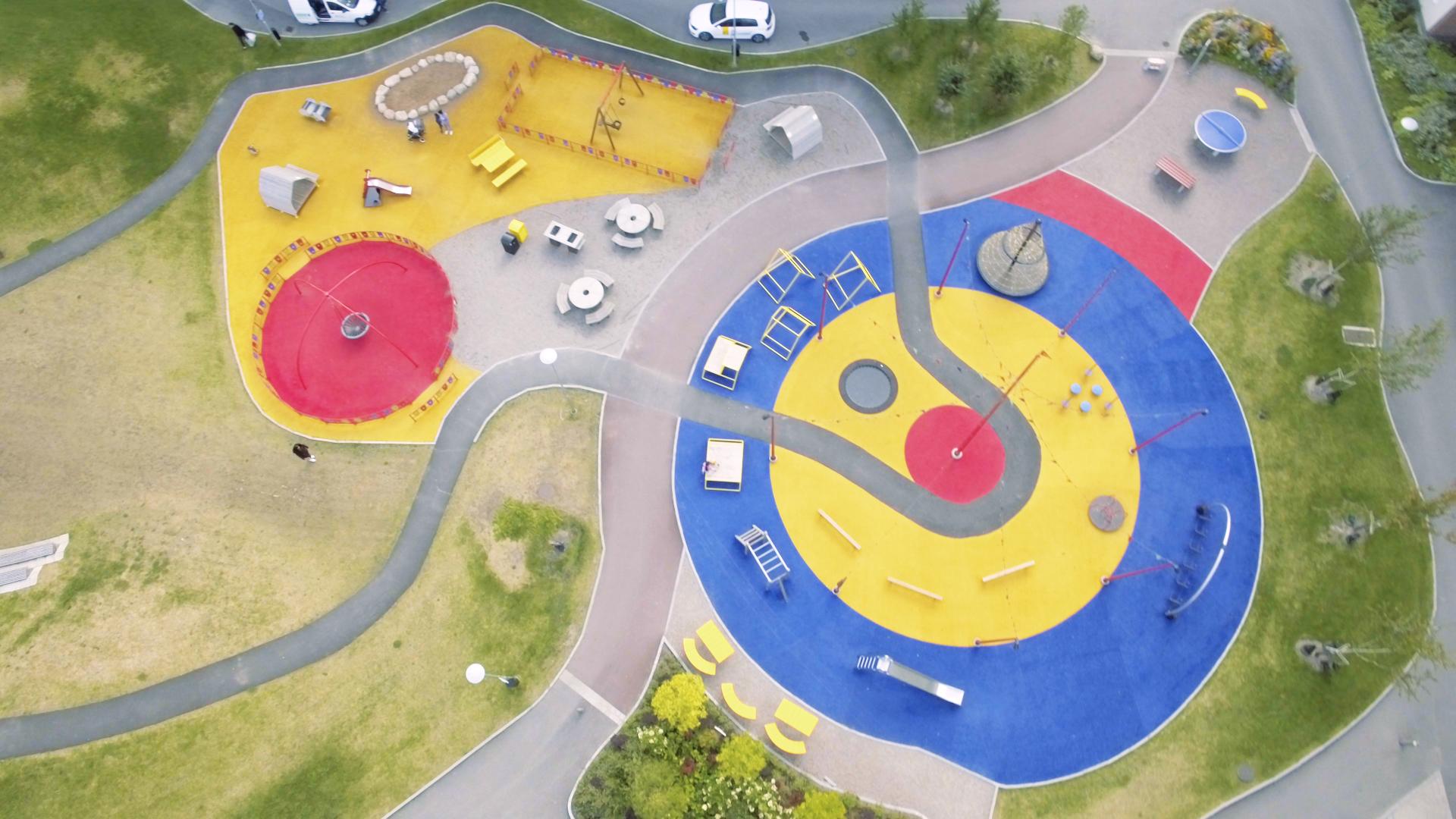 Drönarbild på Cirkusparken på Nordost.