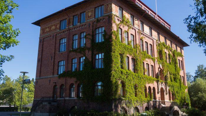 Exteriörbild Borgarskolans huvudbyggnad