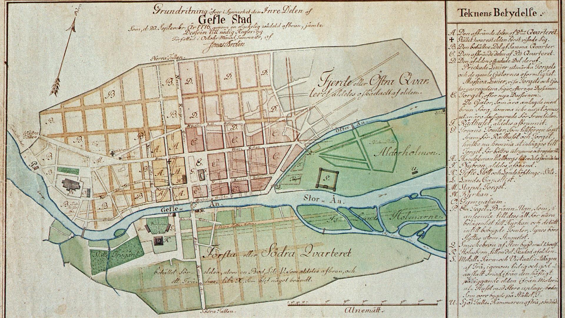 En bild på en gammal karta.
