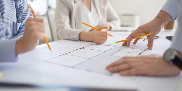 Närbild på planeringsmöte