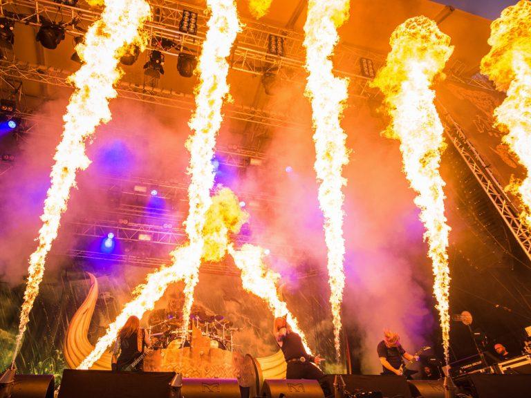 Eldshow på Gefle Metal festival