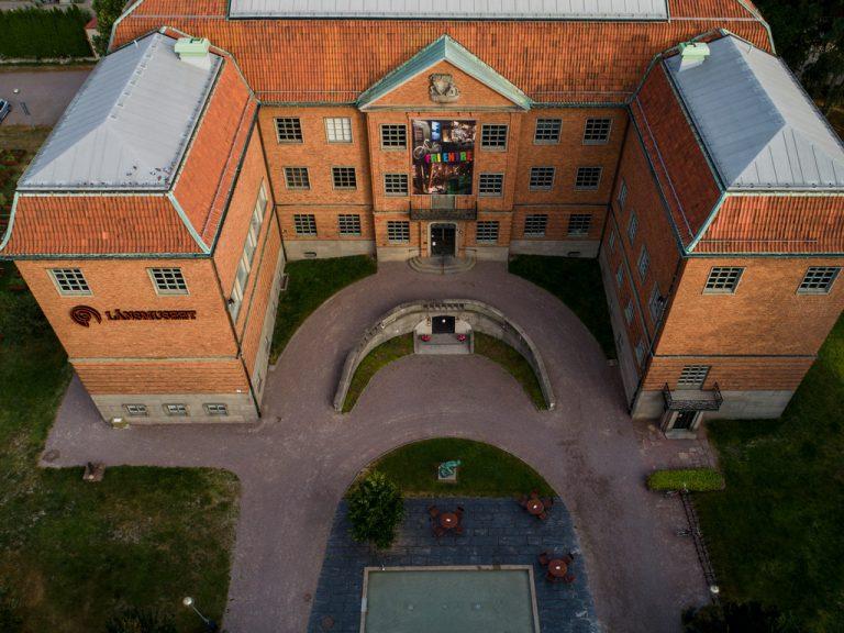 Drönarbild av Länsmuseet Gävleborg.