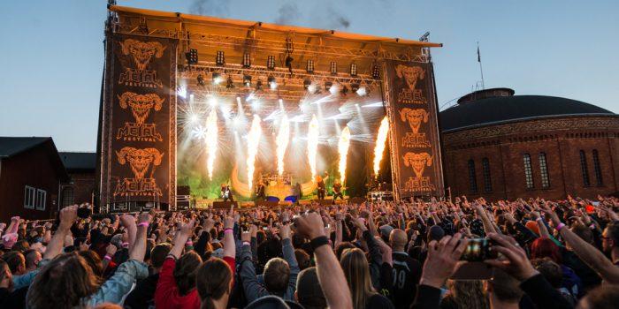 Publikhav Gefle Metal festival.