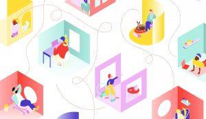 Animerad illustration för Lördagsgodis med Idéfabriken.