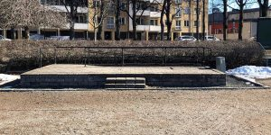 Scenen i Stenebergsparken.