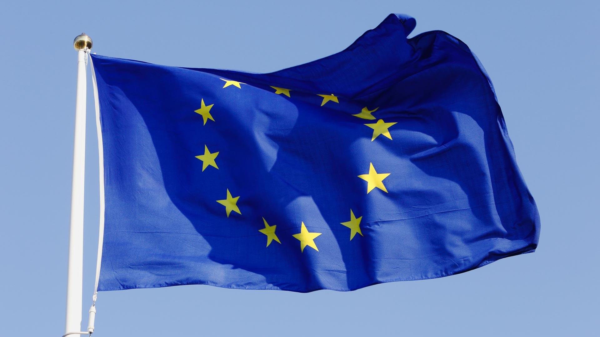 Bild på EU-flagga