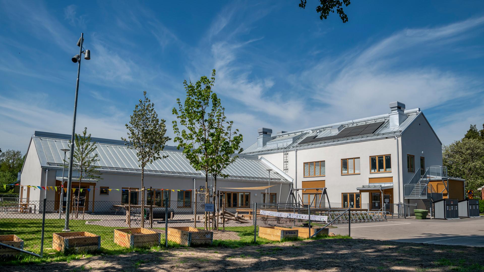 Exteriörbild på Almgårdens förskola