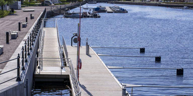 Bryggorna i Gävle gästhamn.