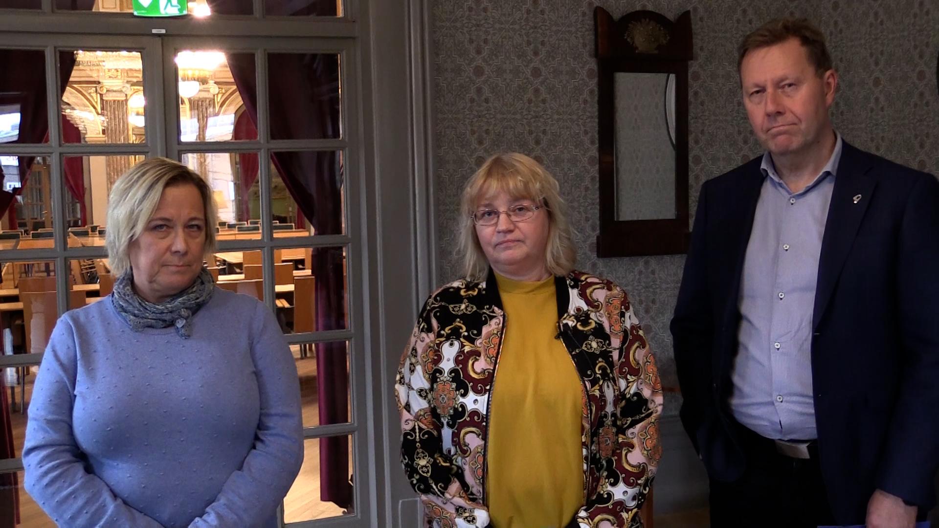Representanter från Gävles Närings och Gävle kommun pratar om det nya näringslivsprogrammet